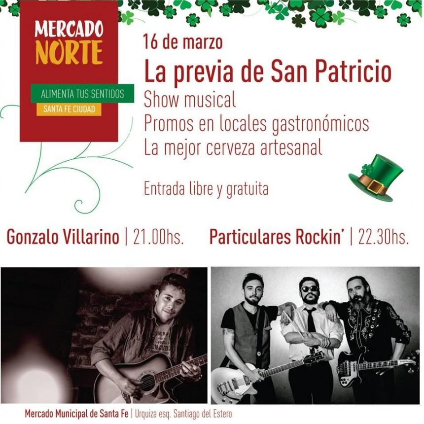 16/3 - SAN PATRICIO en el MERCADO NORTE