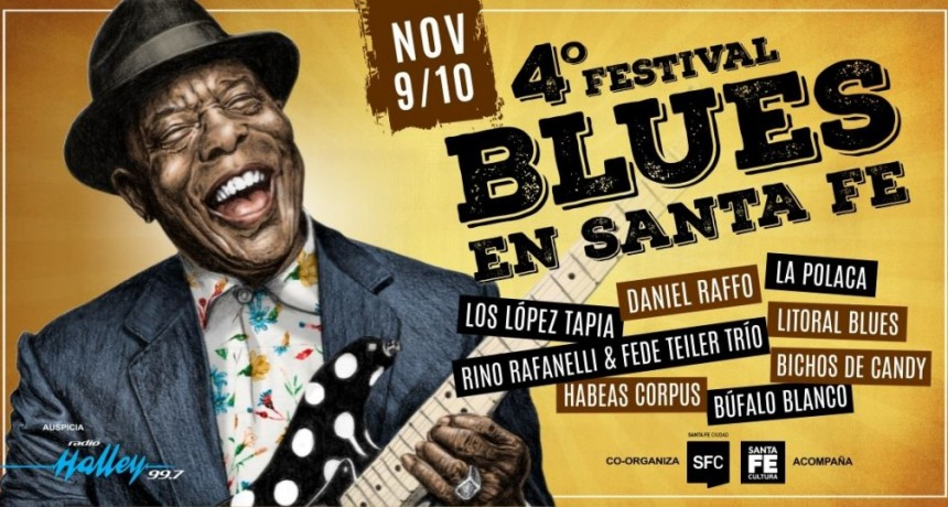 9 y 10/11 - 4to Festival de Blues en Santa Fe