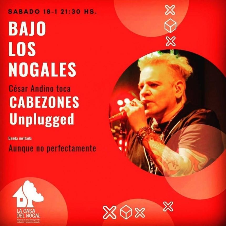 18/1 - César Andino y Cabezones Unplugged y Aunque no Perfectamente