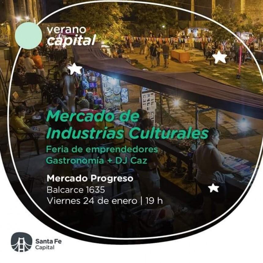 24/1 - Feria, música y gastronomía en el Mercado de Industrias Culturales