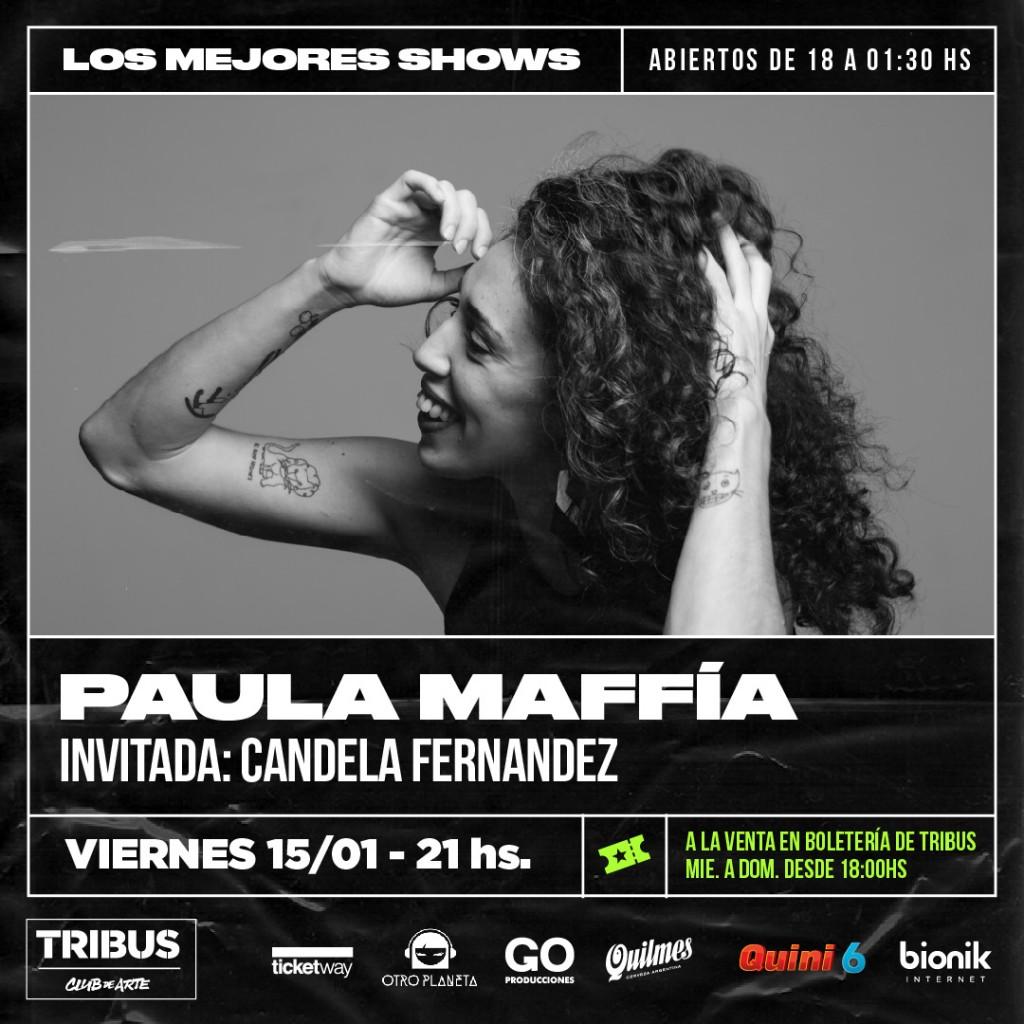 15/1 - Paula Maffía en Tribus