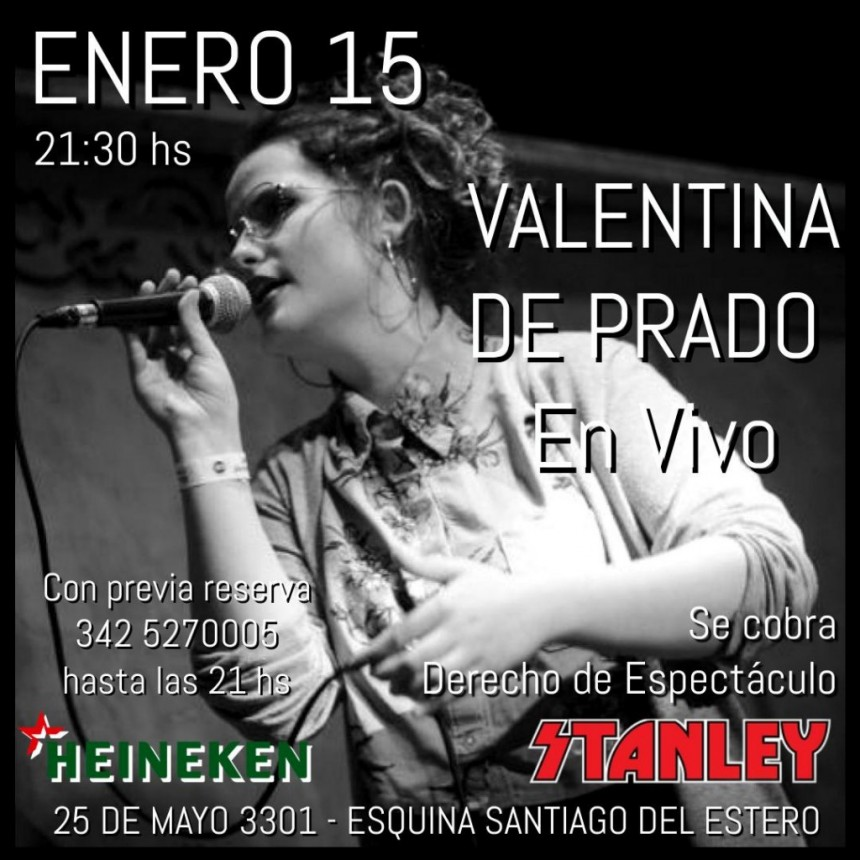 15/1 - Valentina de Padro en Stanley Bar