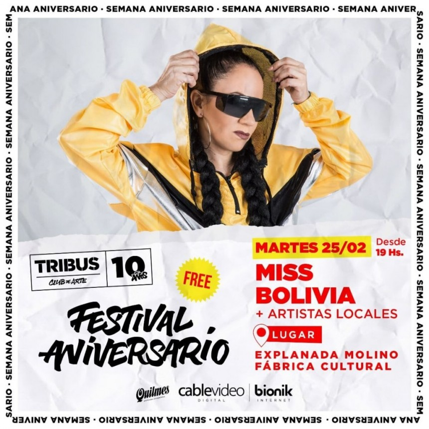 25/2 - MISS BOLIVIA + artistas locales
