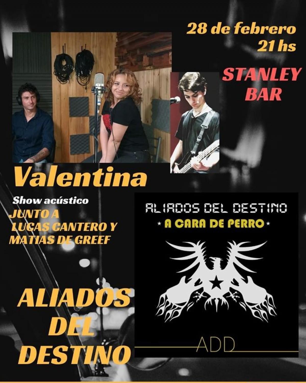 28/2 - VALE RUGGENINI & ALIADOS DEL DESTINO en Stanley Bar