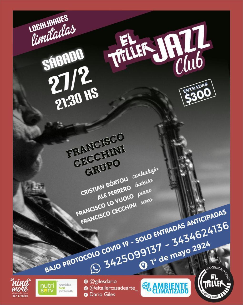 27/2 - Francisco Cecchini grupo en El Taller