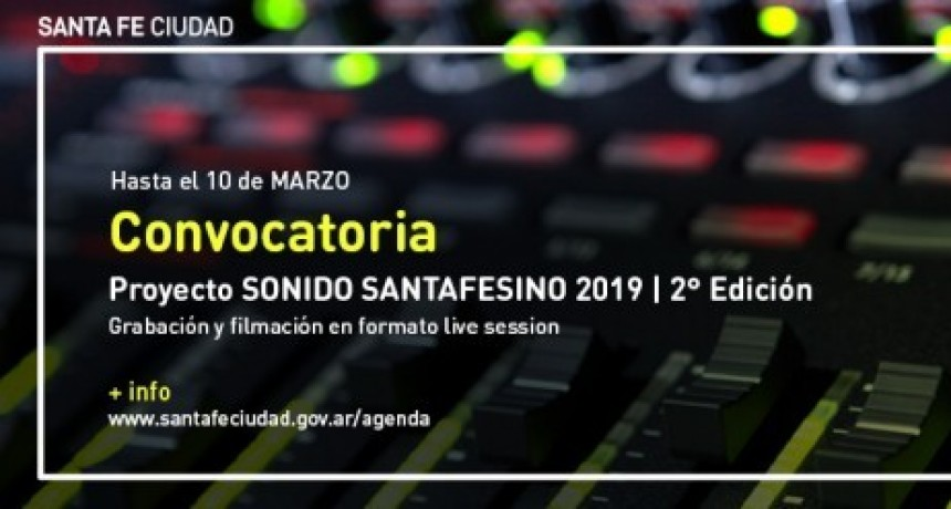 CONVOCATORIA SONIDO SANTAFESINO 2019