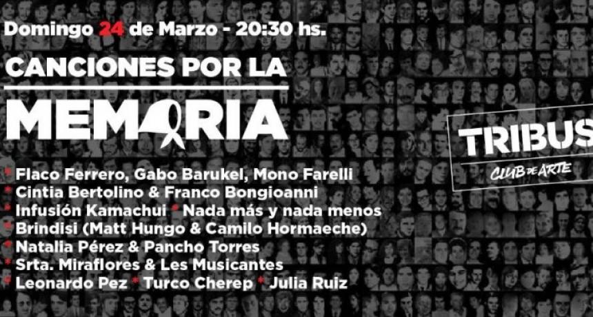 24/3 - Canciones por la Memoria | Tribus Club de Arte