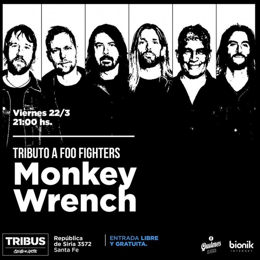 22/3 - MONKEY WRECH en Tribus Club de Arte