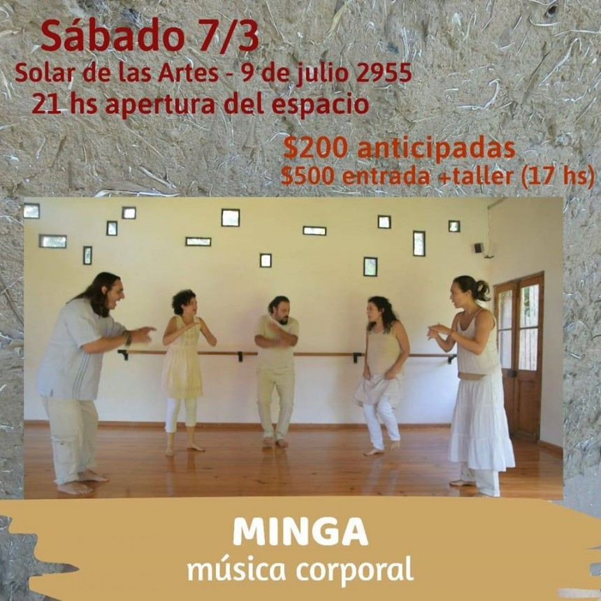 7/3 - MINGA - música corporal en el Solar de las Artes