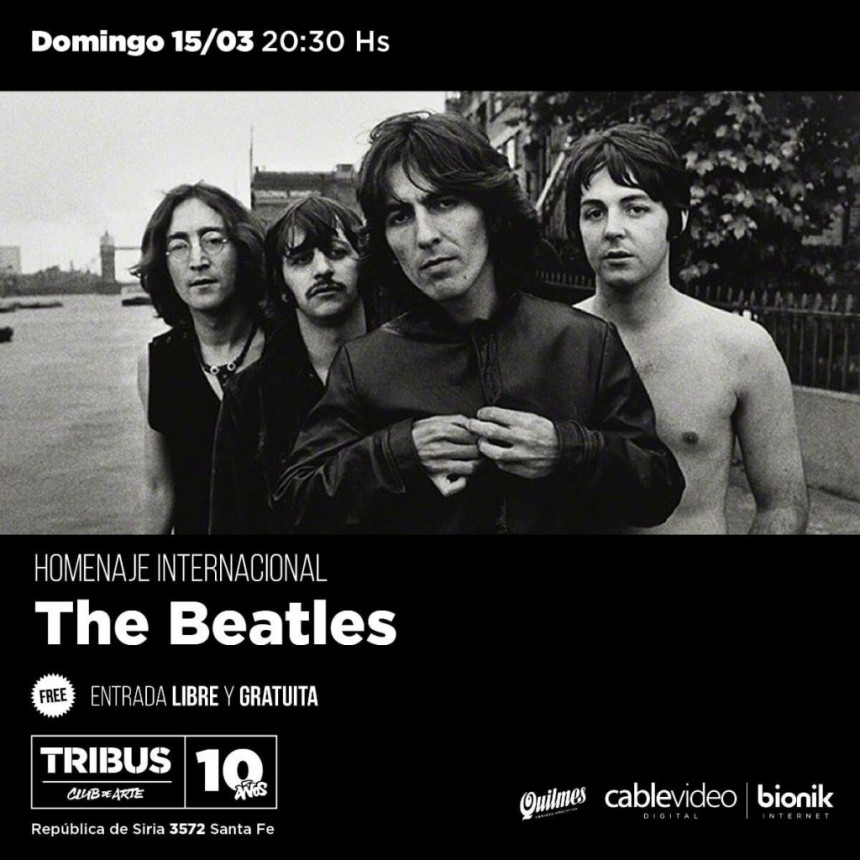 15/3 - Tributo a The Beatles en Tribus
