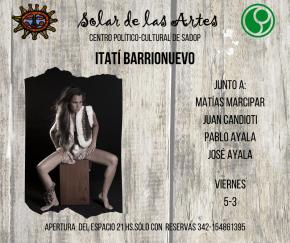 5/3 - Itatí Barrionuevo en El Solar de las Artes