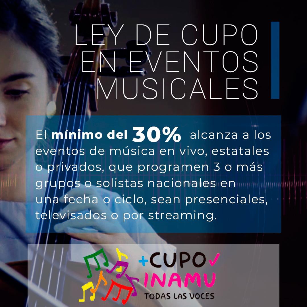 Ley de Cupo en eventos de música en vivo