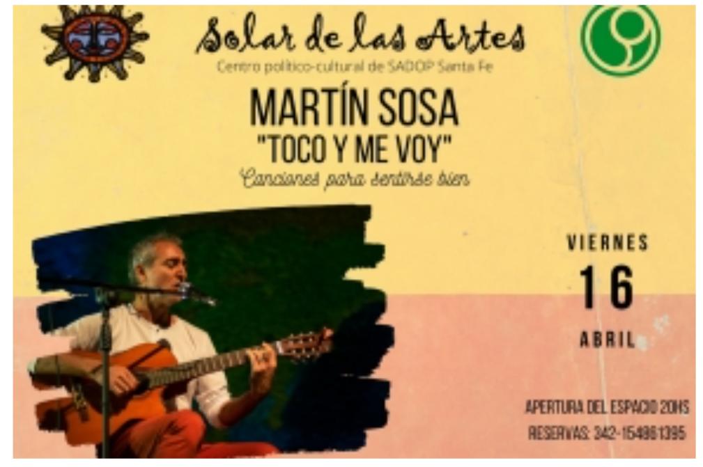 15/4 - Martin Sosa en EL Solar de las Artes