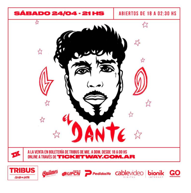 24/4 - Dante Spinetta en Tribus