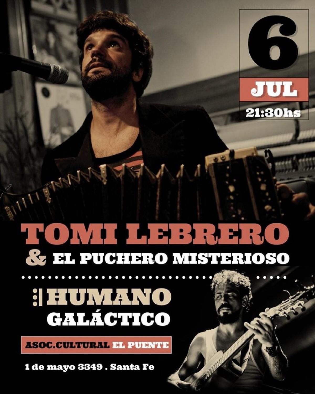 6/7 - Tomi Lebrero & El Puchero Misterioso en Santa Fe