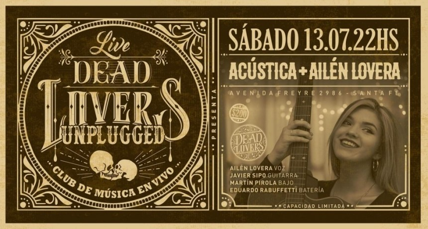 13/7 - Acústica + Ailén Lovera - DeadLovers Unplugged