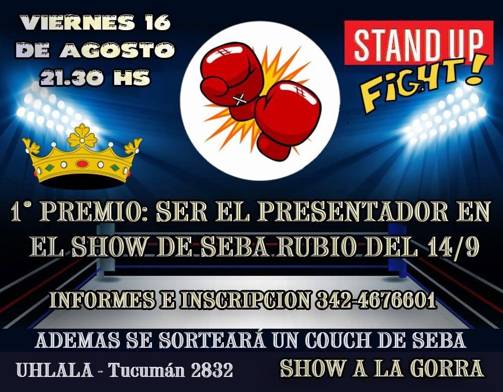 16/8 - 1er Concurso de Stand Up en Santa Fe