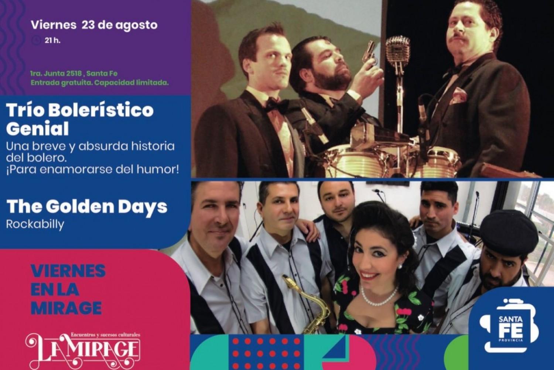 23/8 - Trío Bolerístico Genial y Rockabilly The Golden Days en Mirage