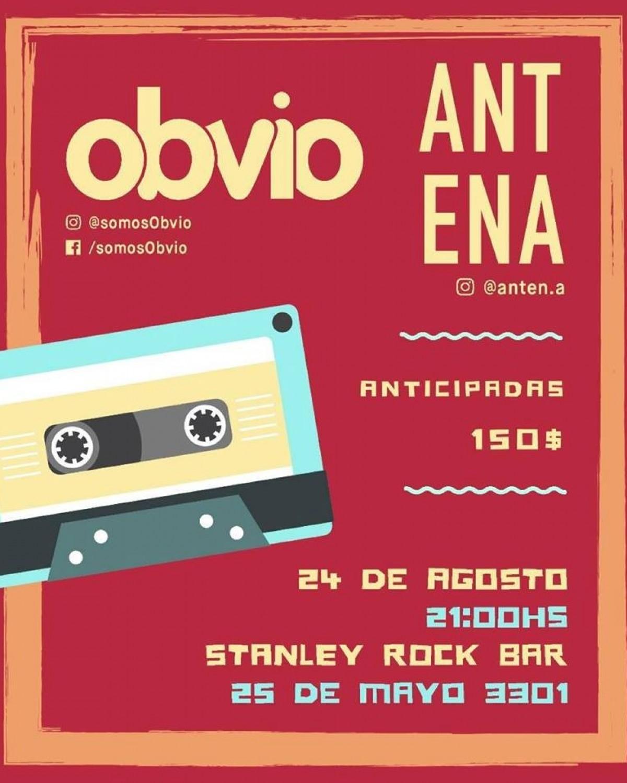 24/8 - Antena y Obvio en Stanley Rock Bar