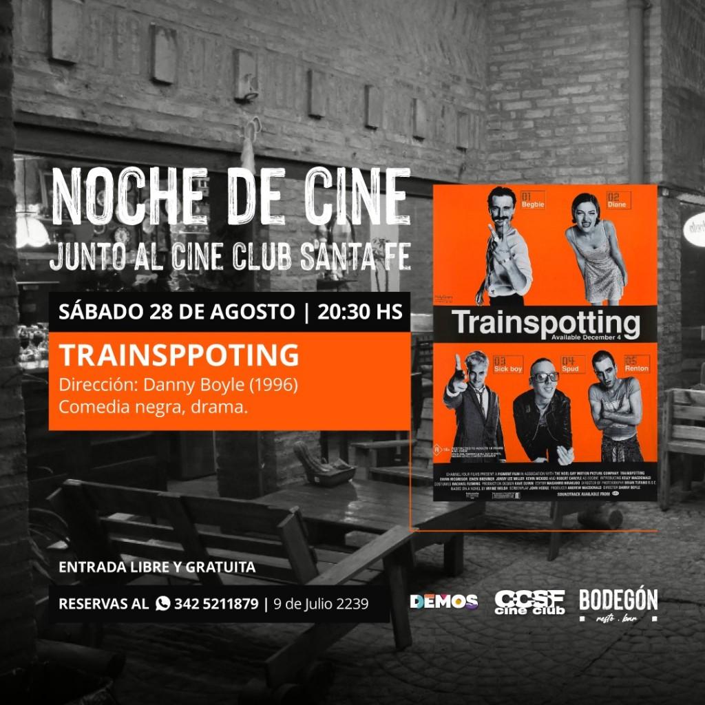 28/8 - Noche de cine junto al Cine Club en Demos