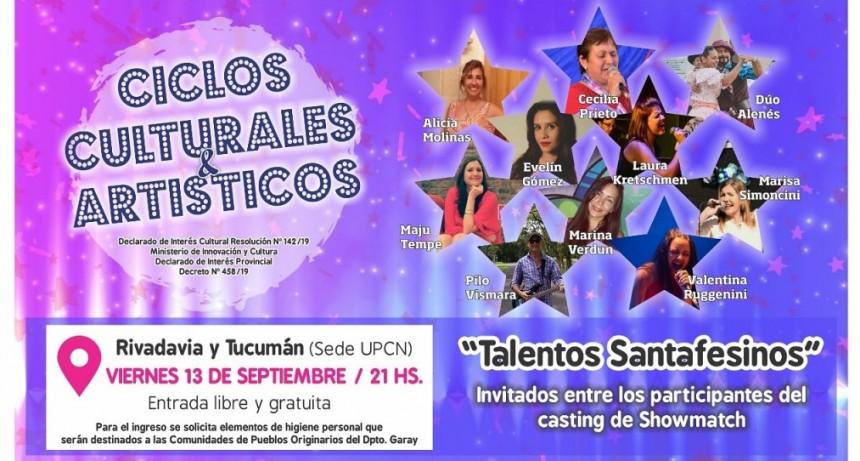 13/9 - Talentos santafecinos en ciclos culturales artisticos