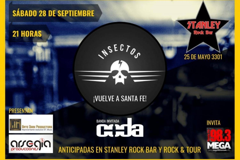 28/9 - INSECTOS y CODA en Stanley Rock Bar
