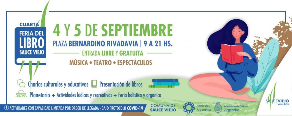 4 y 5/9 - Cuarta Feria del Libro de Sauce Viejo
