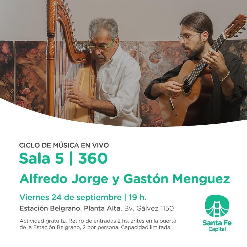 24/9 - Alfredo Jorge y Gastòn Menguez en la Sala 5/360