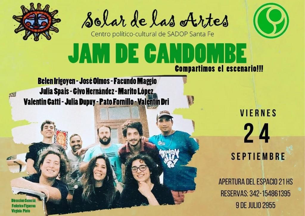 24/9 - JAM de candombe en El Solar