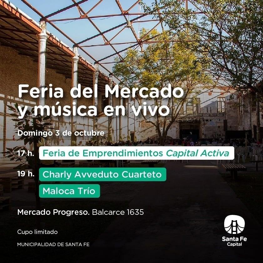 3/10 - Feria del Mercado y mùsico en vivo