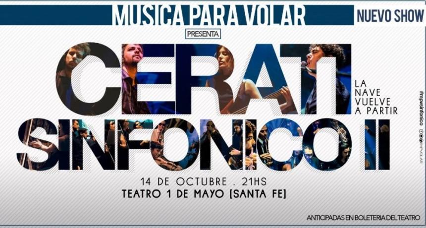 14/10 - Santa Fe! Música para Volar presenta Cerati Sinfónico 2