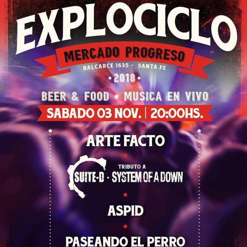 3/11 - Explociclo: ArteFacto, Suite-D, Áspid Rock y Paseando el Perro