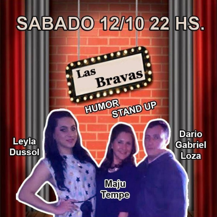 12/10 - Bravas en la noche. Music Hall & Stand Up