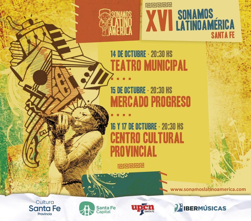 14 al 17/10 - XVI Festival Sonamos Latinoamerica