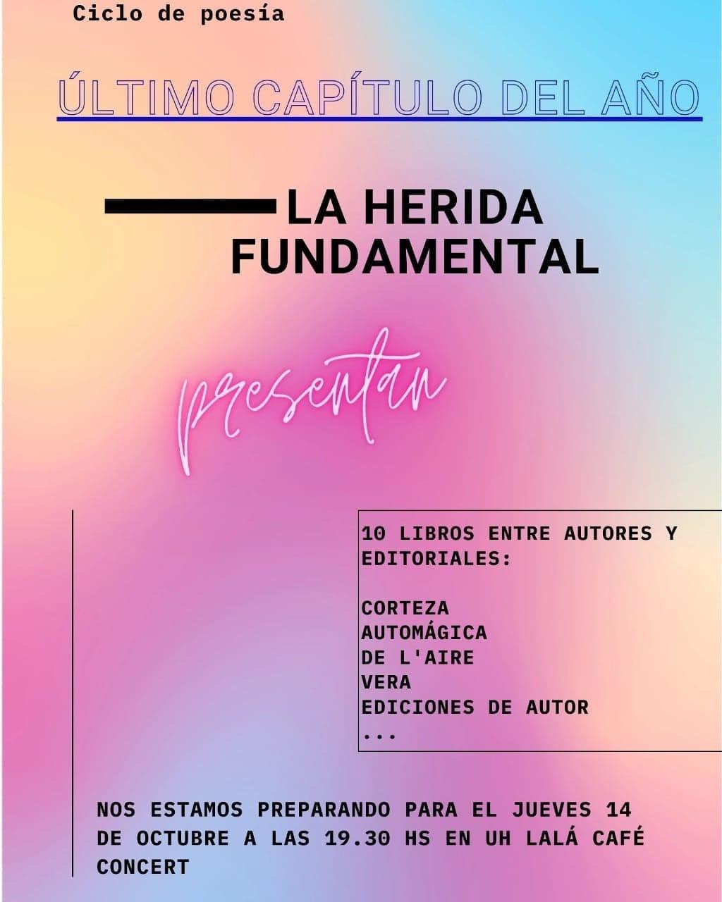 14/10 - Presentaciòn de libros en UH LALA