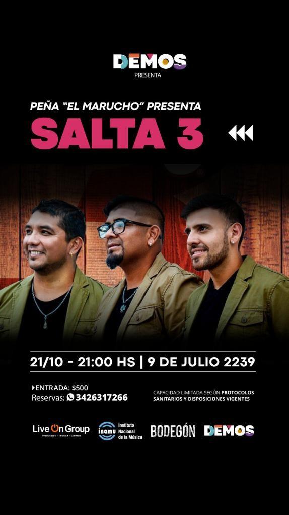 21/10 - SALTA 3 en Demos