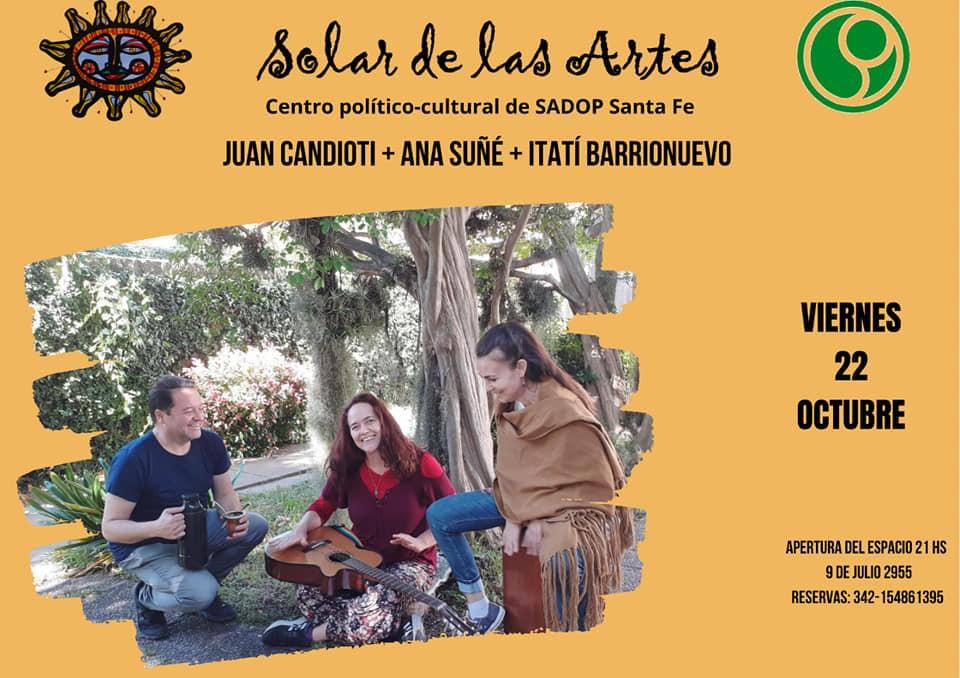22/10 - Candioti/Suñè/Barrionuevo en El Solar