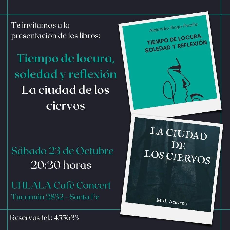 23/10 - Presentaciòn de libros en Uh Lala