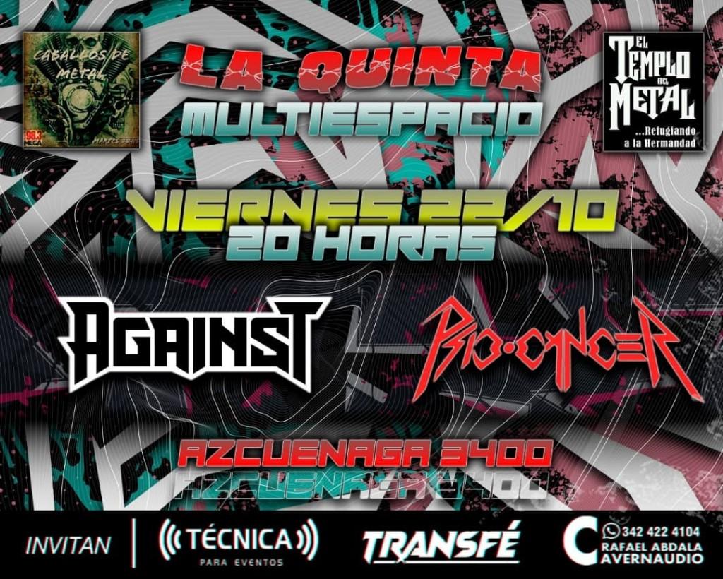 22/10 - Metal en LA QUINTA