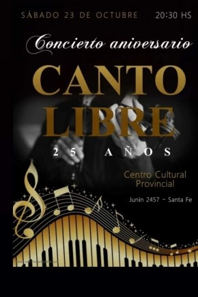 23/10 - Canto Libre en el Centro Cultural