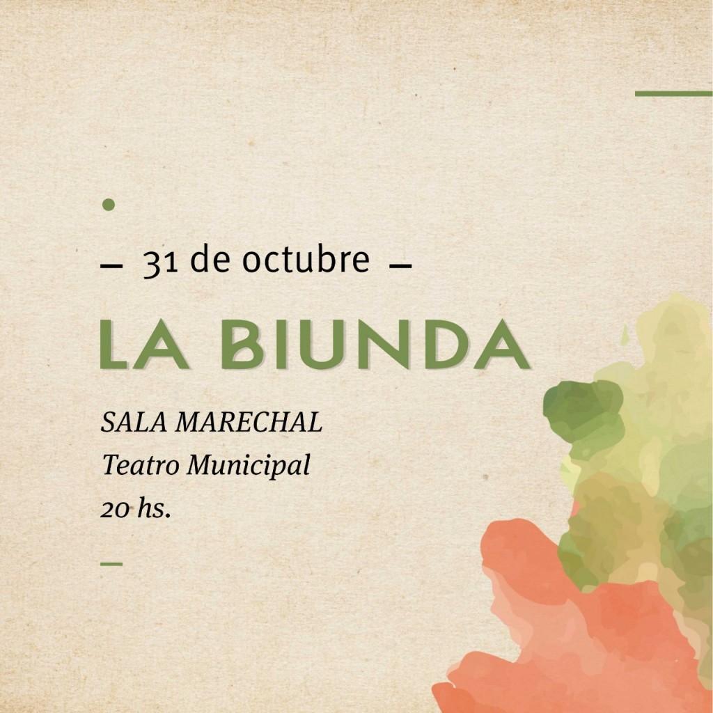 31/10 - LA BIUNDA en La Marechal