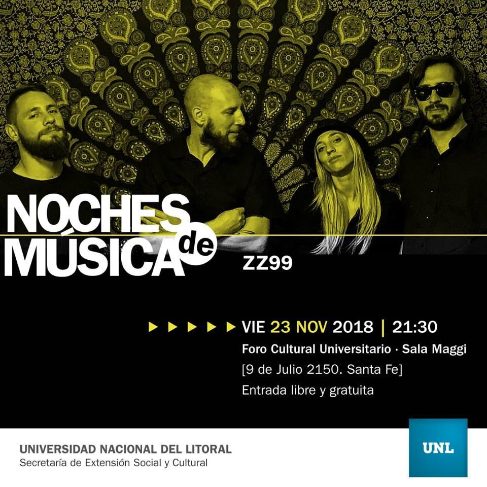 23/11 - NOCHES DE MUSICA: ZZ99 en el Foro