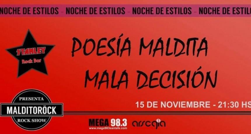 15/11 - MALDITORÖCK presenta: POESIA MALDITA y MALA DECISION