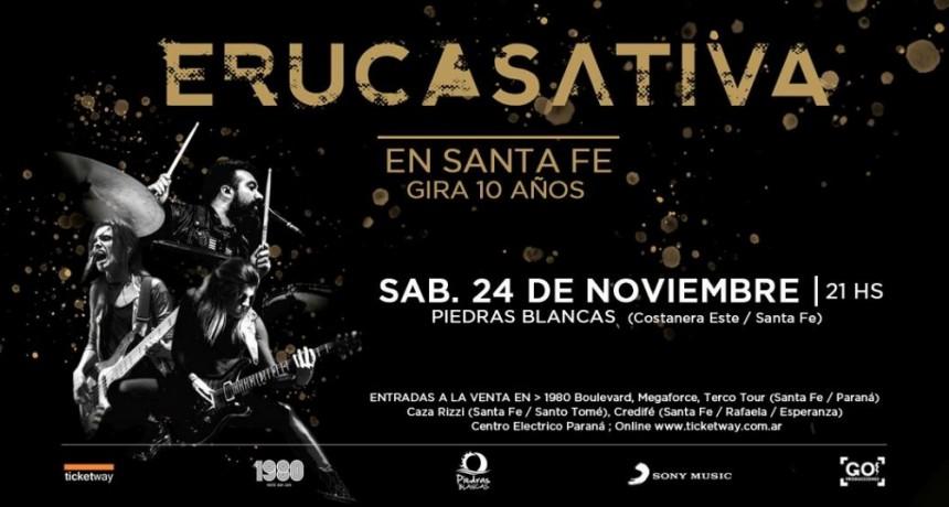 24/11 - Eruca Sativa en vivo en Santa Fe ! #10Años