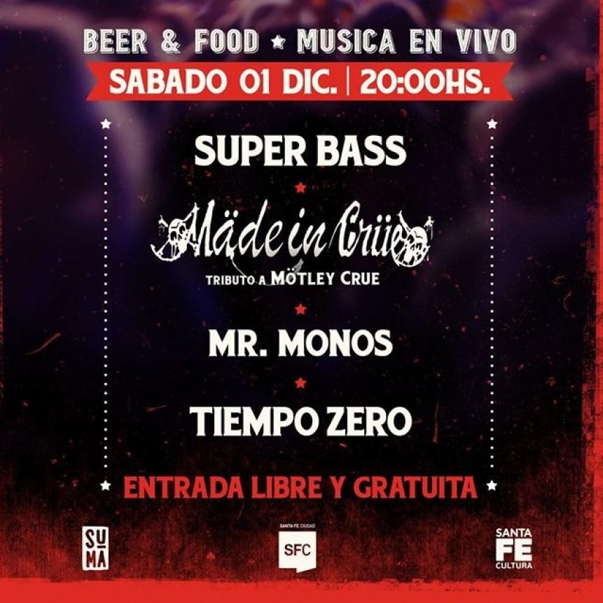 1/12 - Explociclo: Super Bass, Mr. Monos, Tiempo Zero y Mäde in Crüe