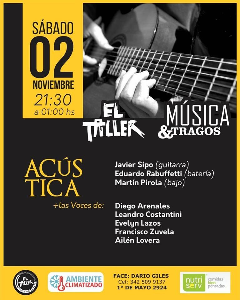 2/11 - EL TALLER Música & Tragos