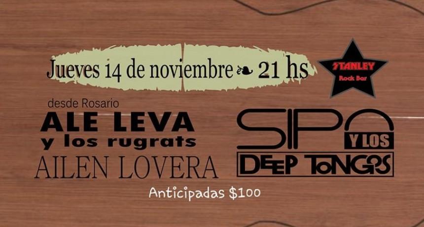 14/11 - Sipo y los Deep Tongos +Ale Leva & los RuGrats- Ailén Lovera