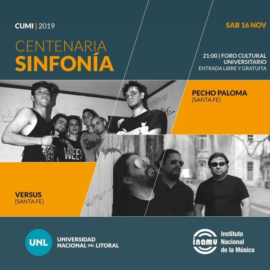 16/11 - Pecho Paloma y Versus live in Foro Cultural!