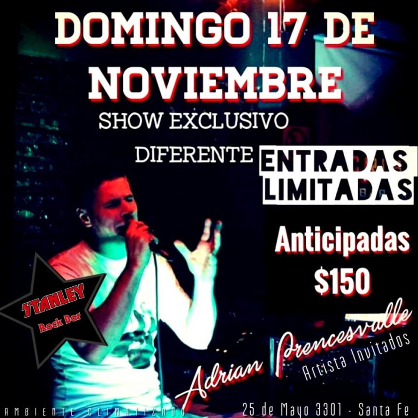 16/11 - Adrián Prencesvalle y su show en Stanley