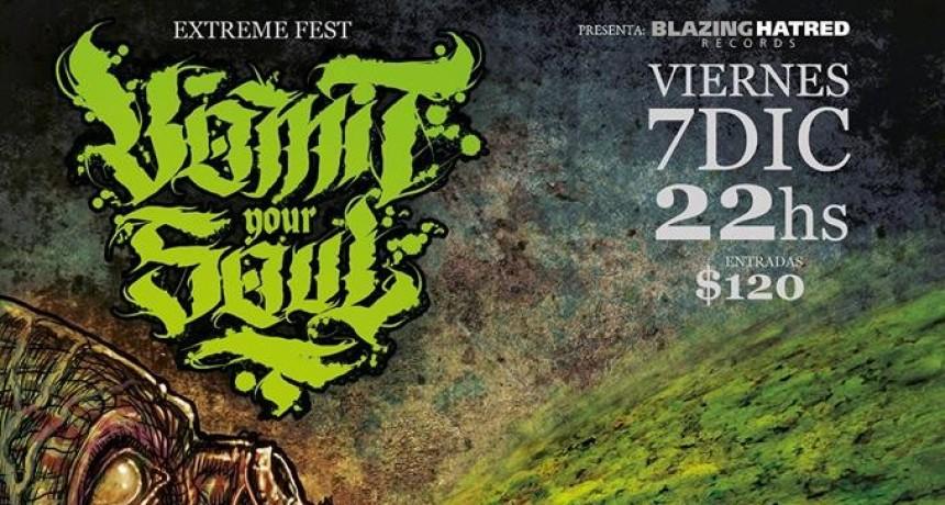 7/12 - VOMIT YOUR SOUL - Extreme Fest en Tribus